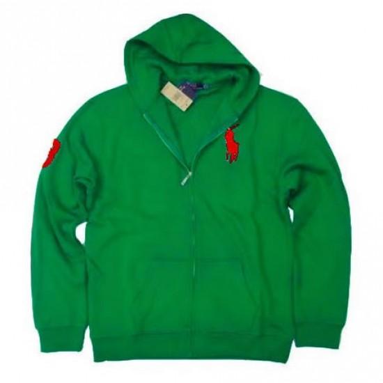 Ralph Lauren Big Pony Full-Zip Fleece Hoodie Green