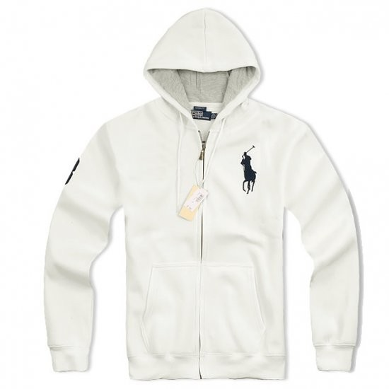 Ralph Lauren Big Pony Full-Zip Fleece Hoodie White