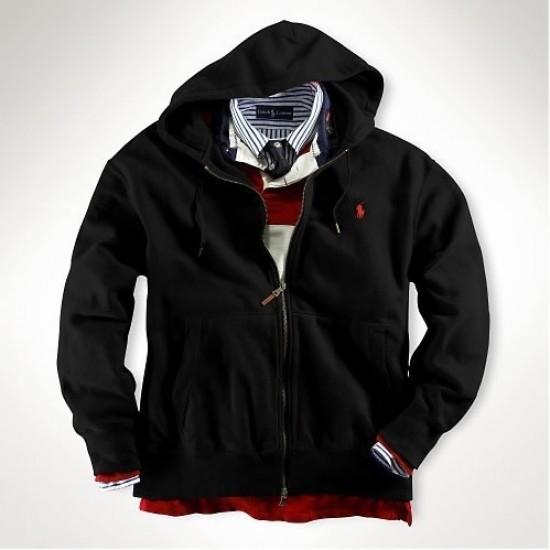Ralph Lauren Classic Fleece Hoodie Black outlet usa
