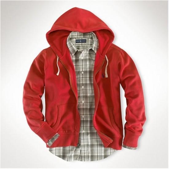 Ralph Lauren Classic Fleece Hoodie Red