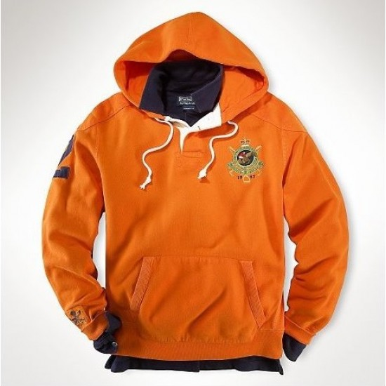 Ralph Lauren Team Crest Fleece Hoodie Orange