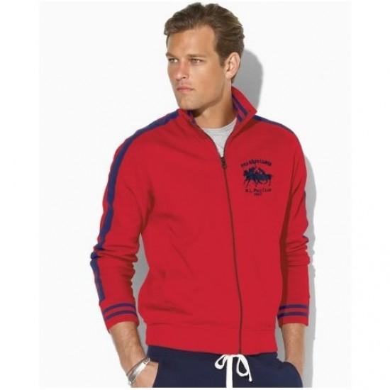 Polo Ralph Lauren Men's Dual Match Pony Full-Zip Red