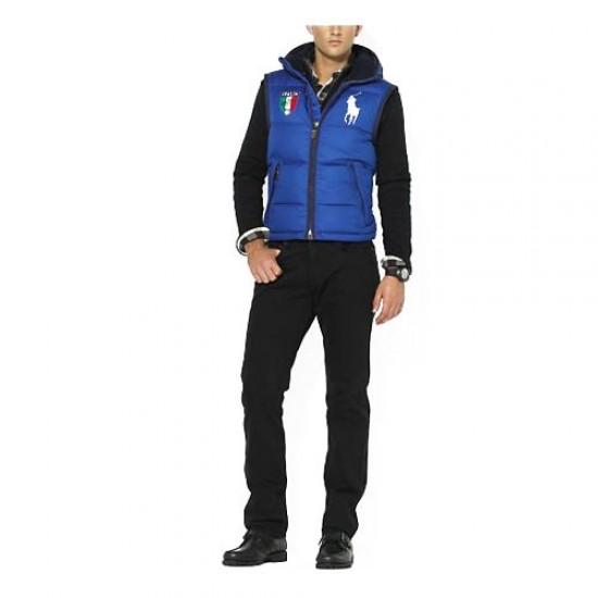 Polo Ralph Lauren Men's 2001 Hooded Down Vest in Blue