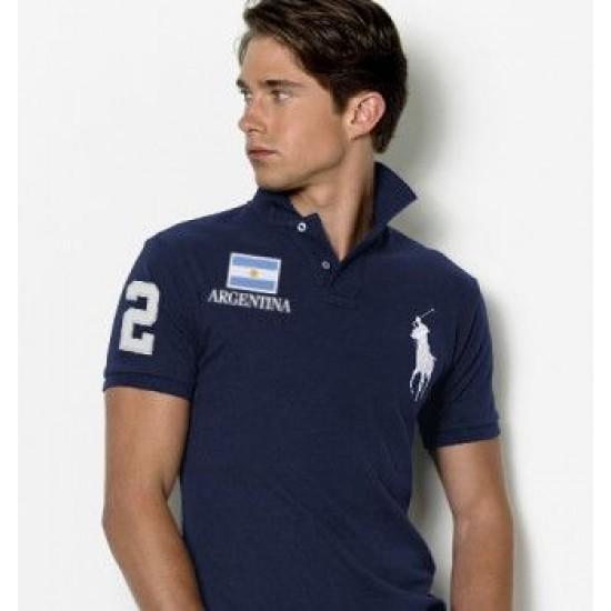 Men's Polo Ralph Lauren Argentina Flag Polo Blue 1037