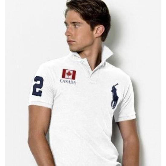 Men's Polo Ralph Lauren Canada Flag Polo White 1079