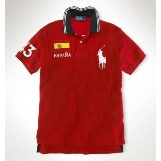 Men's Polo Ralph Lauren Espana Flag Polo Red 1002