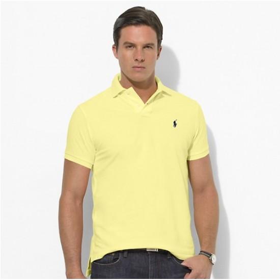 Polo Ralph Lauren Big Pony Short Sleeved Light Yellow For Men