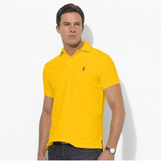 Polo Ralph Lauren Big Pony Short Sleeved Yellow For Men