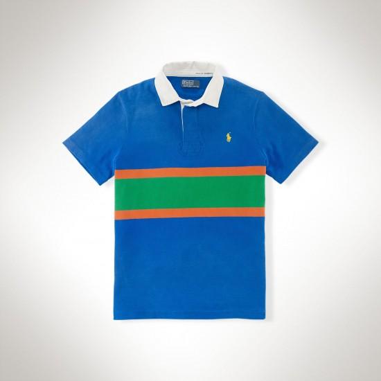 Polo Ralph Lauren Contrast Color Pony T-Shirt Blue For Men