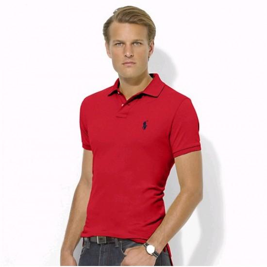 Men's Polo Ralph Lauren Big Pony Short Sleeved Red