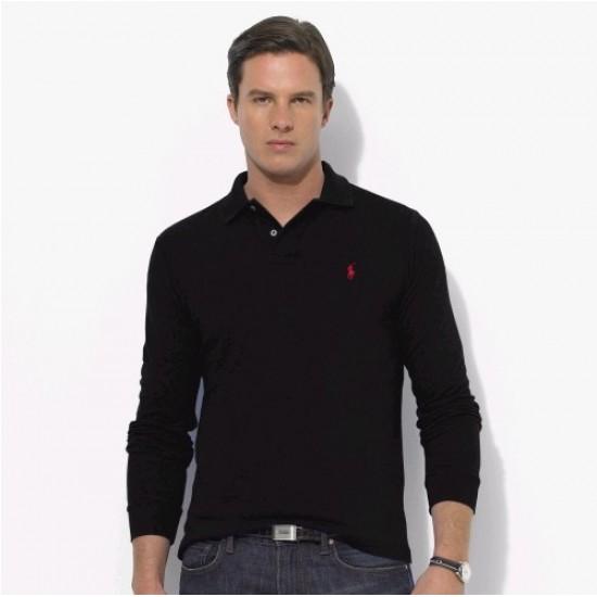 Polo Ralph Lauren Big Pony Long Sleeved Black For Men