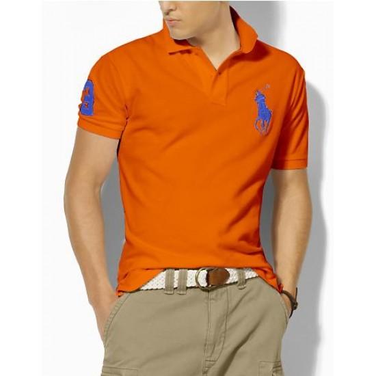 Polo Ralph Lauren Polos Big Pony Blue Orange For Men