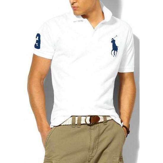 Polo Ralph Lauren Polos Big Pony Blue White For Men