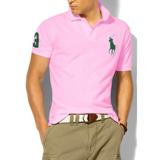 Polo Ralph Lauren Polos Big Pony Green Pink For Men
