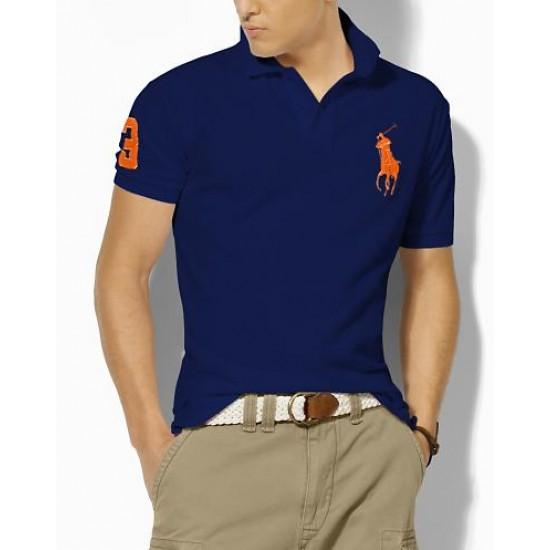 Polo Ralph Lauren Polos Big Pony Orange Blue For Men