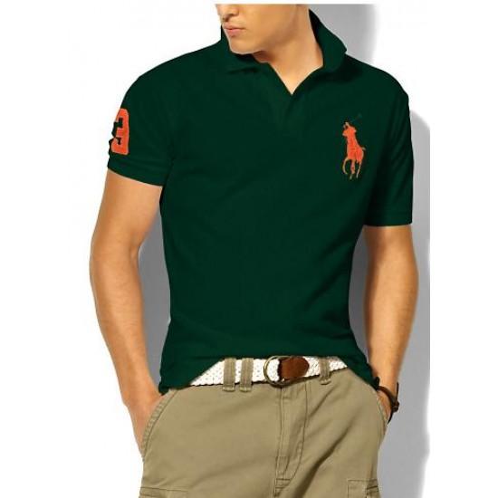Polo Ralph Lauren Polos Big Pony Orange Deep Green For Men