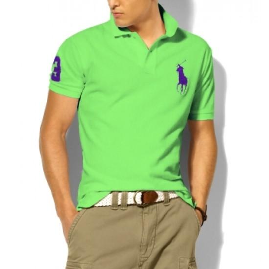 Polo Ralph Lauren Polos Big Pony Purple Light Green For Men