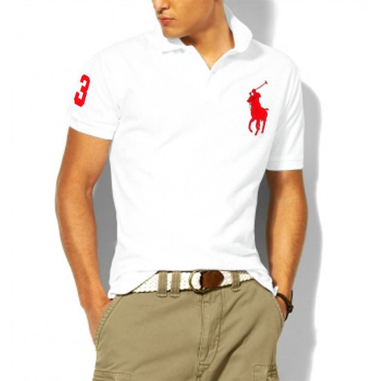 Polo Ralph Lauren Polos Big Pony Red White For Men