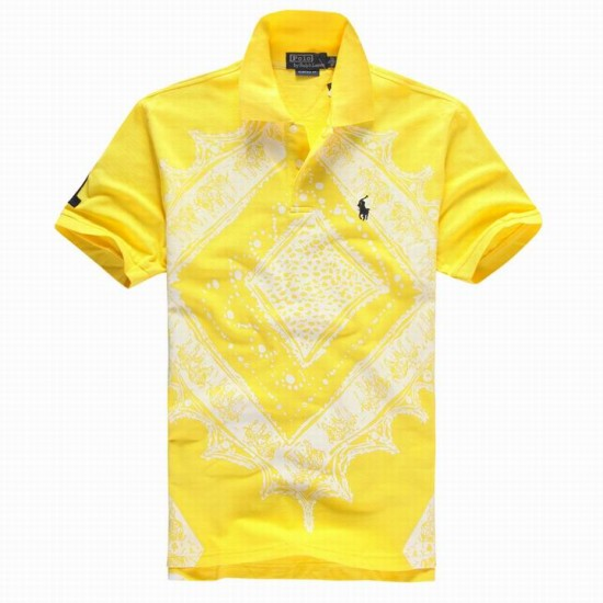 Polo Ralph Lauren Polos Printing T Shirt Yellow For Men