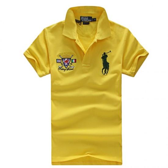 Polo Ralph Lauren Polos Riding School Yellow For Men