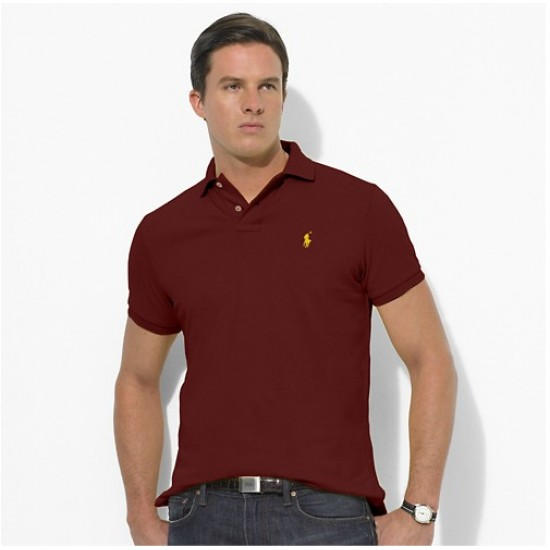 Polo Ralph Lauren Polos Small Pony Brown Red For Men