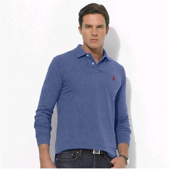 Polo Ralph Lauren Big Pony Long Sleeved Blue For Men