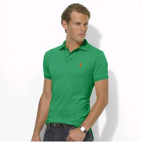 Polo Ralph Lauren Big Pony Short Sleeved Green Orange For Men