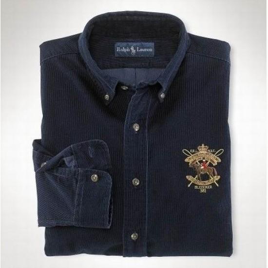 Men's ralph lauren shirts stanton navy