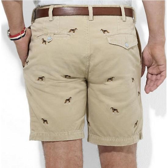 Ralph Lauren Embroidered Men's Cotton Short Khaki