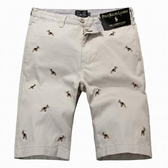 Ralph Lauren Embroidered Men's Cotton Short Grey