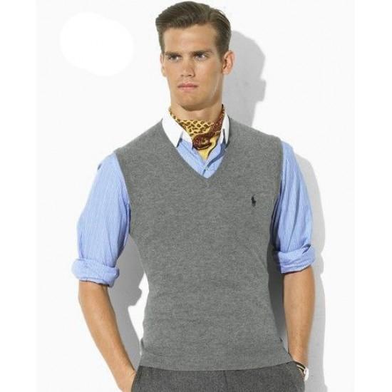 Authentic guarantee grey ralph lauren sweaters men
