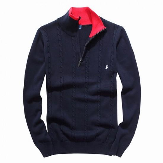 Best quality ralph lauren men half-zipper dsweater