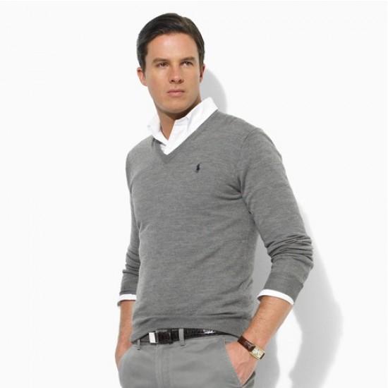 Big sale ralph lauren men polo sweaters gray
