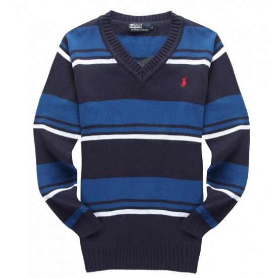 Get comfortable ralph lauren men v-neck sweater blue black