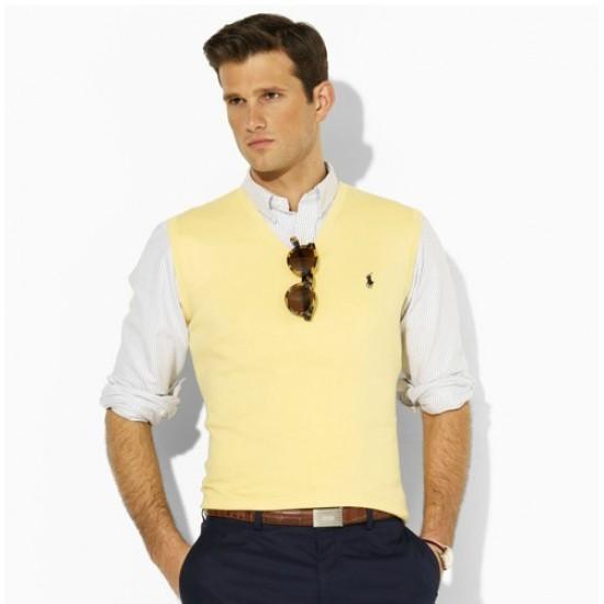 Discount price ralph lauren cotton v-neck vest