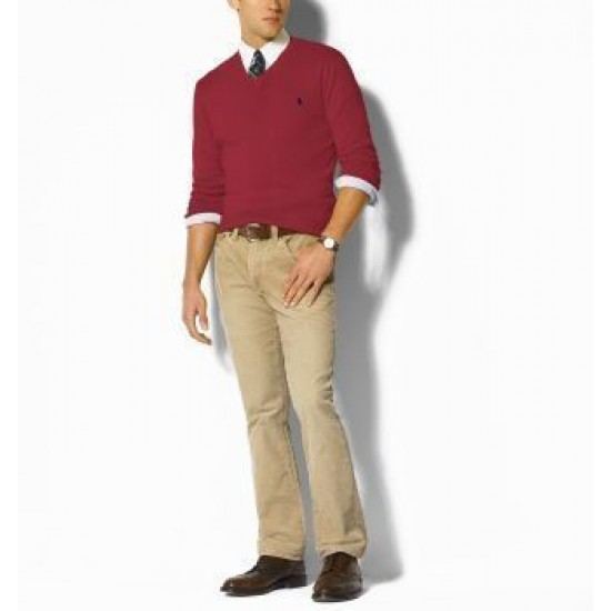 Uk outlet store wine red polo ralph lauren sweaters men