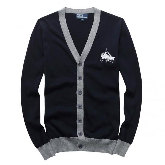 Big sale ralph lauren mens button v-neck sweater royalblue