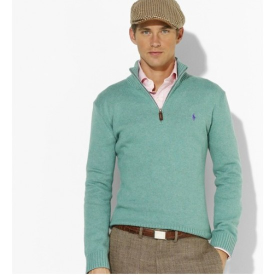 The cheapest price ralph lauren men half-zipper sweater