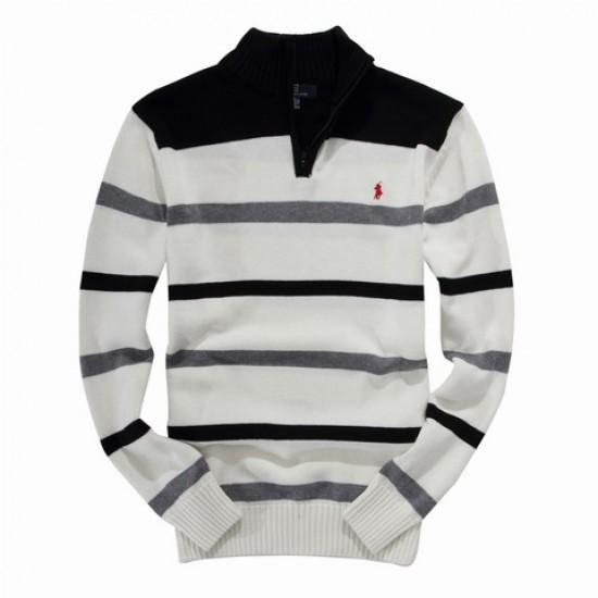 ralph lauren men half zipper white turtleneck sweater black gray