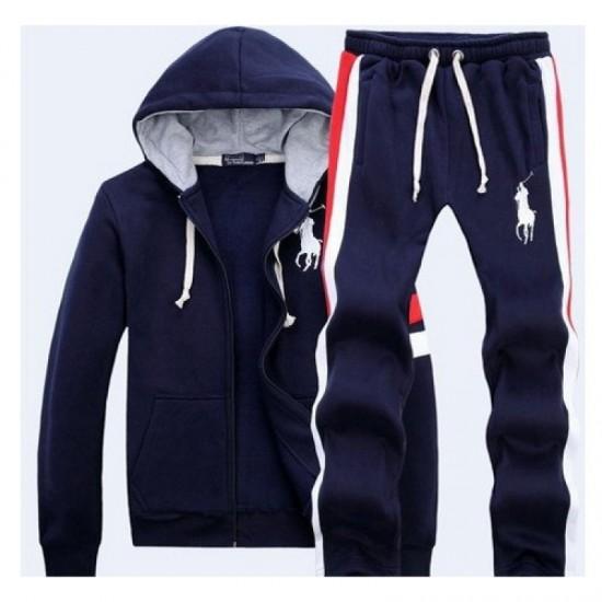 Men's Sports Track Suit Polo By Ralph Lauren Navy