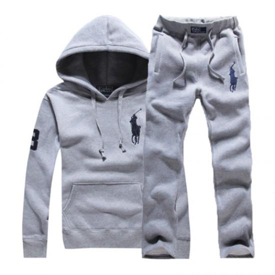 Men's Polo Ralph Lauren Pullover Track Suit Grey