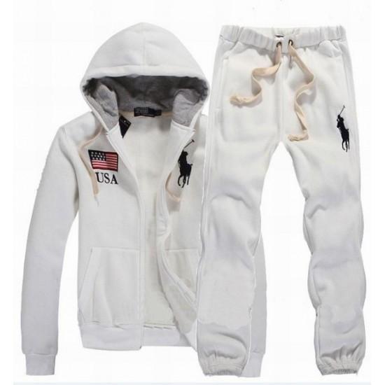 Men's Polo Ralph Lauren Tracksuit USA Flag In White
