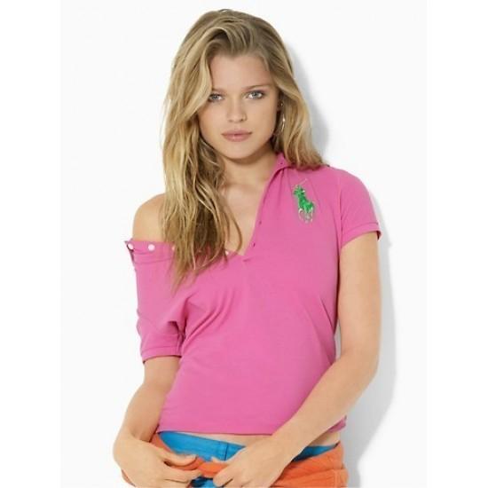 Women's Big Pony Pink Ralph Lauren Polo Belmont Pink