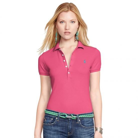 Women's Discount Ralph Lauren Big Pony Skinny Polo Red