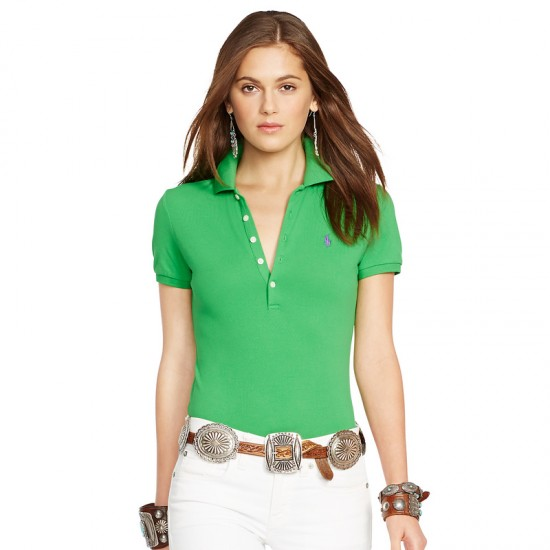 Women's Green Ralph Lauren Big Pony Skinny Polo in sale
