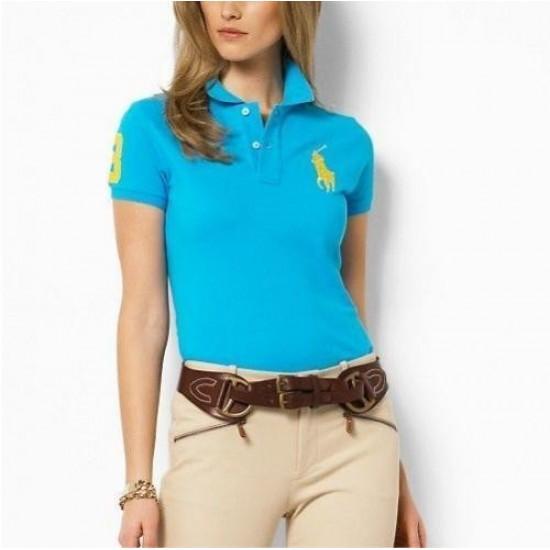 Women's Polo Ralph Lauren Classic-Fit Big Pony Skinny Polo Turquoi