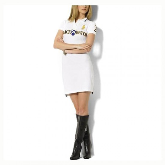 Women's Polo Ralph Lauren Cotton Dress White outlet sale