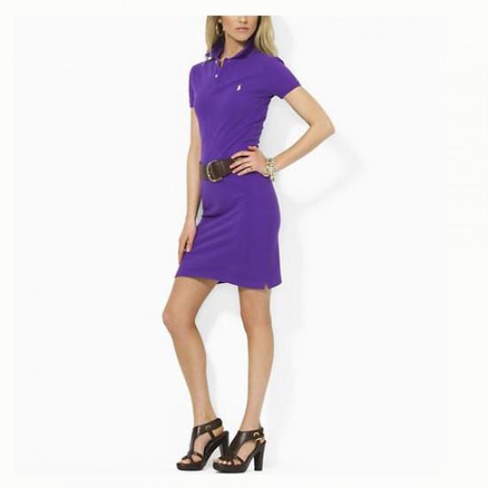 Women's Polo Ralph Lauren Cotton Dress in Purple