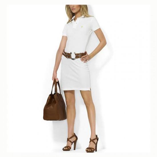 Polo Ralph Lauren Cotton Dress in White for women