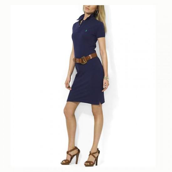 Polo Ralph Lauren Women's 1018 Cotton Dress in Navy